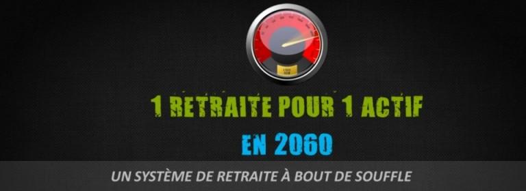 1 retraité pour 1 actif en 2060 – Le doute n'est plus permis !