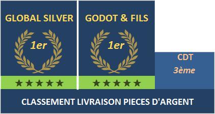 classement livraison pieces argent